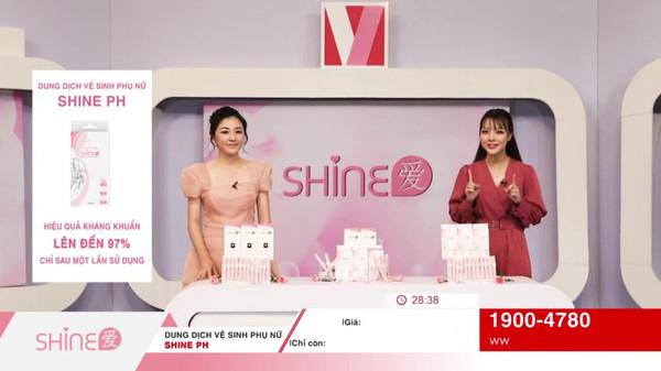 일회용 여성청결제 샤인애(SHINEPH)가 홈쇼핑 채널인 V쇼핑을 통해 베트남 전국 판매를 진행하고 있다.