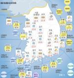 기상청 발표 오늘 날씨ㆍ일본 태풍 경로-현재 제주도 호우특보 발효된 가운데 전국 대부분 지역 흐리고 비…태풍 파사이 일본 강타, 오후 태평양으로 빠져나가